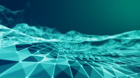 Mesh Sphere torcido iluminado 3d abstracto Muestra de neón Tecnología futurista HUD Element Extracto elegante stock de ilustración