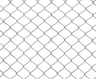 Mesh of steel wires isolated Royalty Free Stock Image
