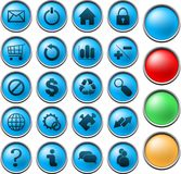 Mesh system buttons Royalty Free Stock Photos