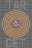 Mesh With Target Pattern On preto Grey Background Imagem de Stock