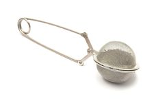 Mesh tea ball infuser Royalty Free Stock Photo
