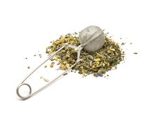 Mesh tea ball infuser Stock Photo