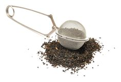 Mesh tea ball infuser Stock Images