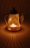 Mesh Teapot candle holder Royalty Free Stock Photography
