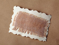 Mesh texture on brown kraft paper background Stock Images