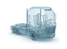 Mesh truck isolated on white. My own design Stock Images