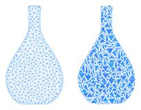 Polygonal 2D Mesh Glass Jug and Mosaic Icon stock illustration