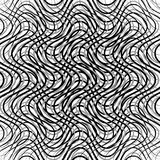 Mesh of wavy, billowy, undulating lines. Repeatable geometric mo. Nochrome pattern - Royalty free vector illustration Royalty Free Stock Photo