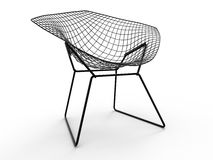 Mesh wire chair concept Royalty Free Stock Image