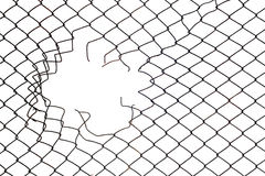 Mesh wire hole Royalty Free Stock Image