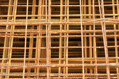 Mesh wire reinforcement mats 5 Royalty Free Stock Photos