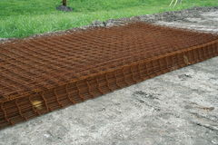 Mesh wire reinforcement mats Stock Images