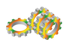 Meshing  gear Stock Image