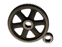 Meshing Gears stock image
