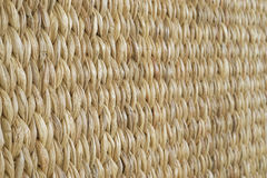 Meshwork of wooden reed wicker texture background. Oblique view Stock Photography