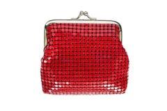 Meshy handväska för metall arkivbild