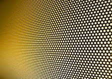 Meshy metal background. Yellow gold meshy metal background Stock Images