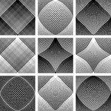 Meshy patterns. Convex and concave optical effect. Stock Images
