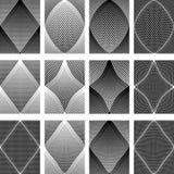 Meshy patterns. Design elements set. Royalty Free Stock Photography