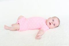 2 mesi adorabili di bambino Fotografie Stock Libere da Diritti
