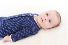 2 mesi adorabili di neonata Immagini Stock Libere da Diritti