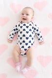 2 mesi adorabili di neonata Immagini Stock