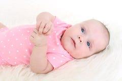 3 mesi adorabili di neonata Immagini Stock