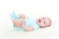 2 mesi adorabili felici di neonata Fotografie Stock Libere da Diritti