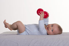 6 mesi del neonato Fotografia Stock