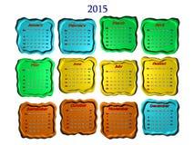 2015 mesi 12 di b Fotografie Stock
