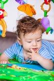 7 mesi di neonato Fotografia Stock Libera da Diritti