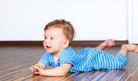 7 mesi di neonato Fotografie Stock