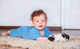 7 mesi di neonato Immagine Stock Libera da Diritti