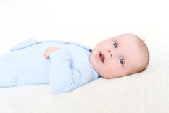 2 mesi felici di neonata Fotografia Stock