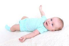 2 mesi felici di neonata Immagine Stock Libera da Diritti