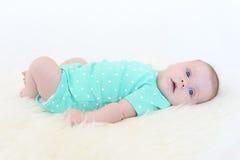 2 mesi piacevoli di neonata Immagini Stock