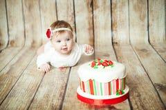 6 mesi svegli di neonata Fotografia Stock