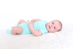 2 mesi svegli di neonata Fotografia Stock Libera da Diritti