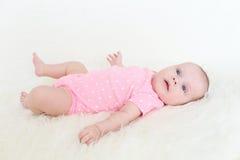 3 mesi svegli di neonata Immagine Stock Libera da Diritti