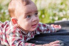 6 mesi svegli sorridere del bambino Fotografia Stock Libera da Diritti