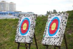 Mesini射箭 得到到达目标 免版税图库摄影