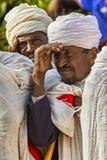 Meskel Celebration, Lalibela, Ethiopia. Ethiopia. Lalibela. The Meskel celebration, September 26th 2016. Priests during the Meskal celebration religious holiday royalty free stock images