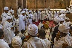 Meskelviering, Lalibela, Ethiopië royalty-vrije stock afbeelding