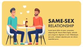 A mesma bandeira lisa dos desenhos animados da igualdade do relacionamento do sexo ilustração do vetor