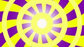 Mesmeric фиолетов-желтая предпосылка сток-видео