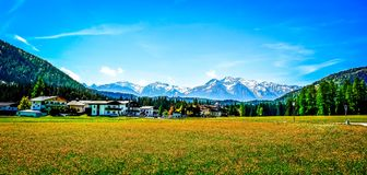 Mesmerizing alpine scene. This mesmerizing alpine scene is in Austria. The mountains are part of the Alps royalty free stock image