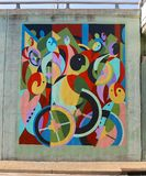 Mesmerizing Fish Abstract Mural On James Road in Memphis, Tennessee. Stock Photography