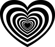 Mesmerizing heart vector illustration Royalty Free Stock Photography