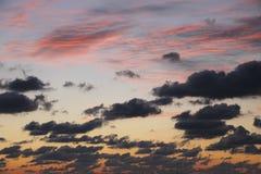 Mesmerizing Magenta Blue Dark Clouds Dusk Royalty Free Stock Photography