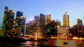 Mesmerizing Singapore. Beautiful elongated building Royalty Free Stock Images